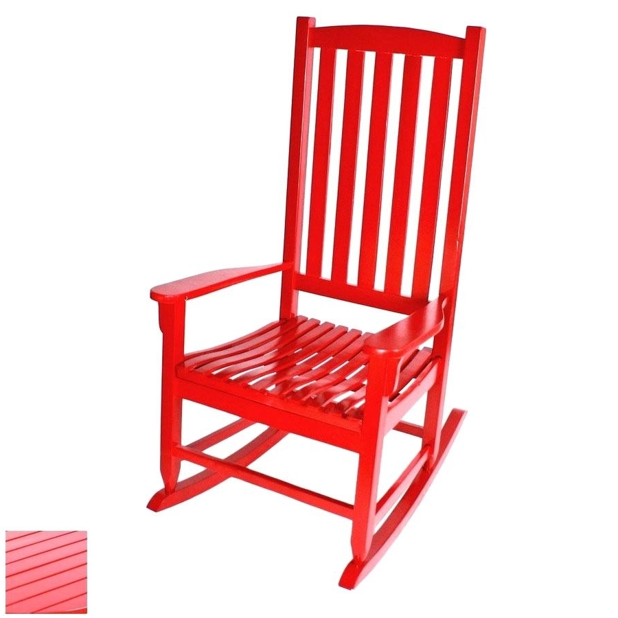 Well Liked Red Outdoor Chairs Rocking Chair Cushions Plastic Dining Regarding Red Patio Rocking Chairs (View 9 of 15)