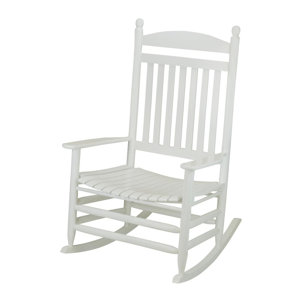 White Patio Rocking Chairs Regarding 2017 Bradley White Slat Jumbo Wood Outdoor Patio Rocking Chair 1200sw Rta (View 12 of 15)