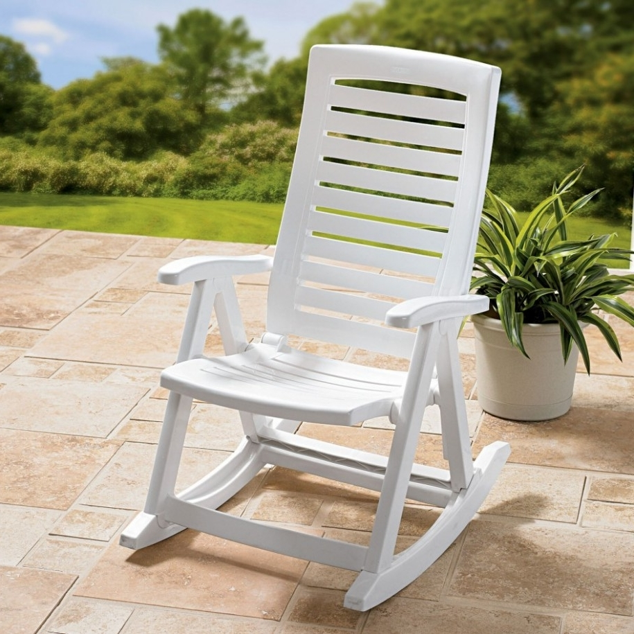 White Resin Patio Rocking Chairs Pertaining To Trendy Small Porch Rocking Chairs — Wilson Home Ideas : Ideas For Painting (View 7 of 15)