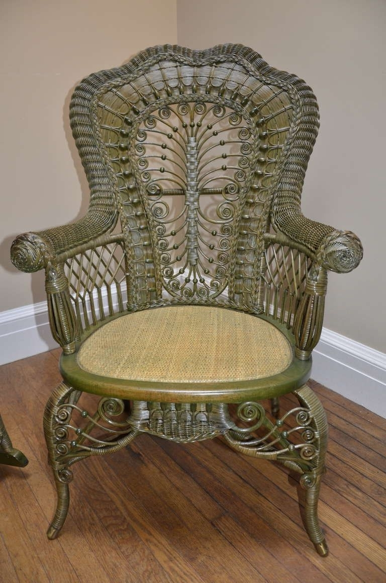 Wicker In Antique Wicker Rocking Chairs (View 14 of 15)