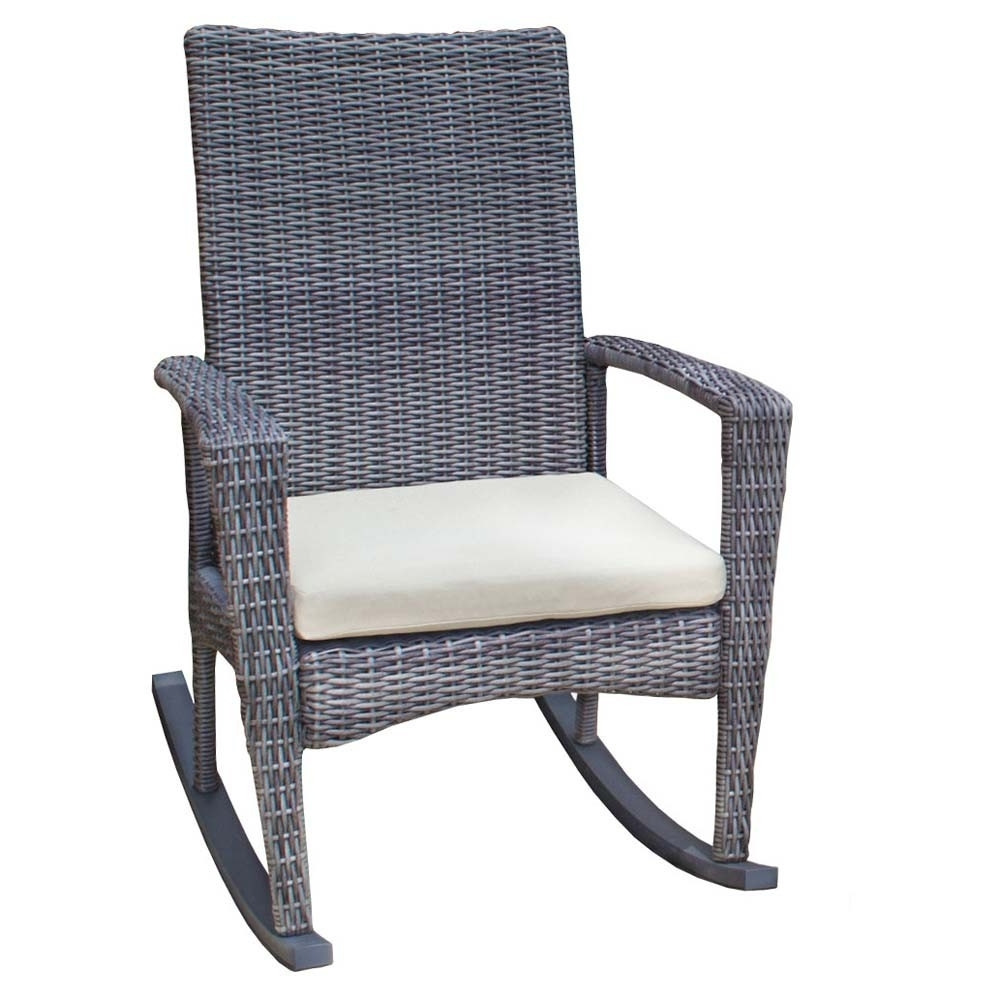 Wicker Rocking Chairs For Outdoors With Most Popular Tortuga Outdoor Bayview Rocking Chair – Wicker (View 8 of 15)