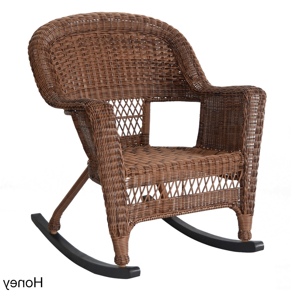 Wicker Rocking Chairs Sets Pertaining To Fashionable Shop Wicker Rocker Patio Chairs (Set Of 2) – Free Shipping Today (View 14 of 15)