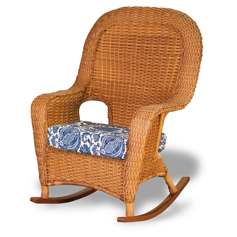 Wicker Rocking Chairs Sets With Regard To Best And Newest Tortuga Outdoor Lexington Wicker Rocker – Wicker (View 15 of 15)