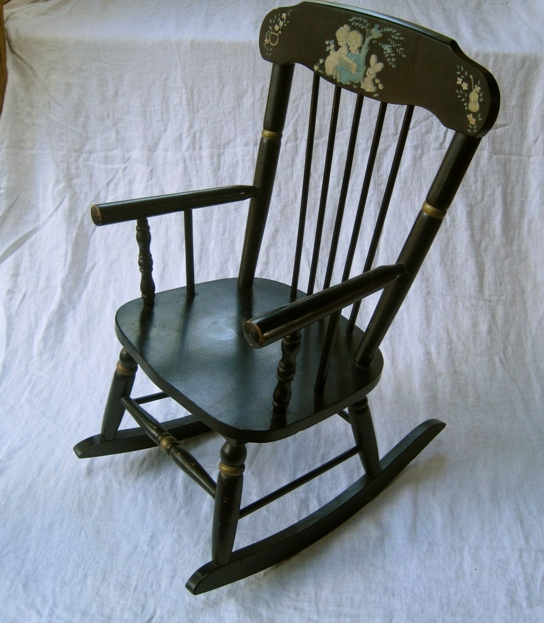 Widely Used Children's Musical Rocking Chair – Vintage, Maderamsdell (View 7 of 15)