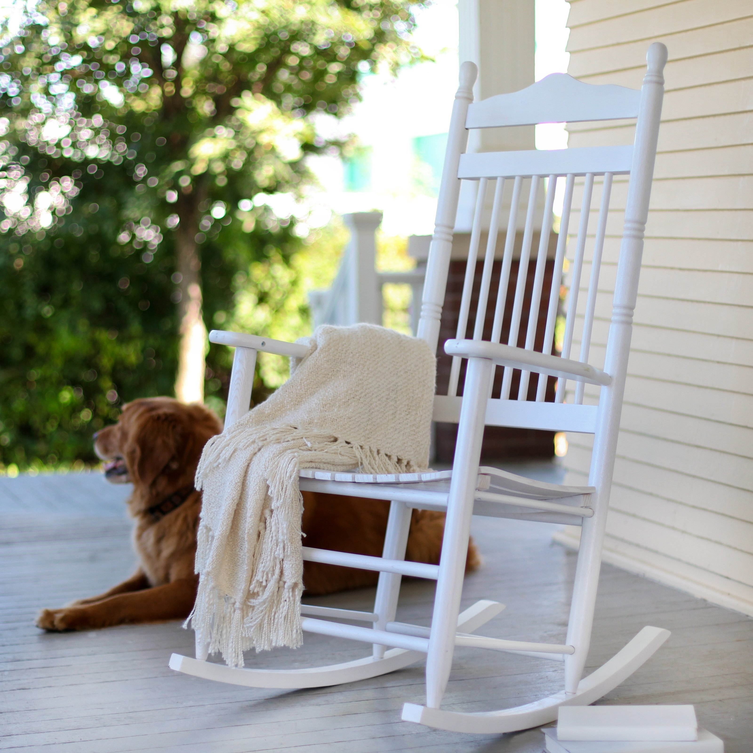 Widely Used Decorating White Outdoor Rocking Chair Outside Wicker Rockers For Rocking Chairs For Outside (View 15 of 15)
