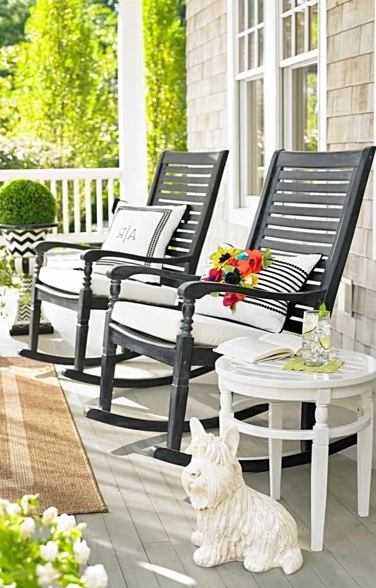 Widely Used Furniture & Organization: Porch Design With Patio Rocking Chairs Set In Modern Patio Rocking Chairs (View 15 of 15)