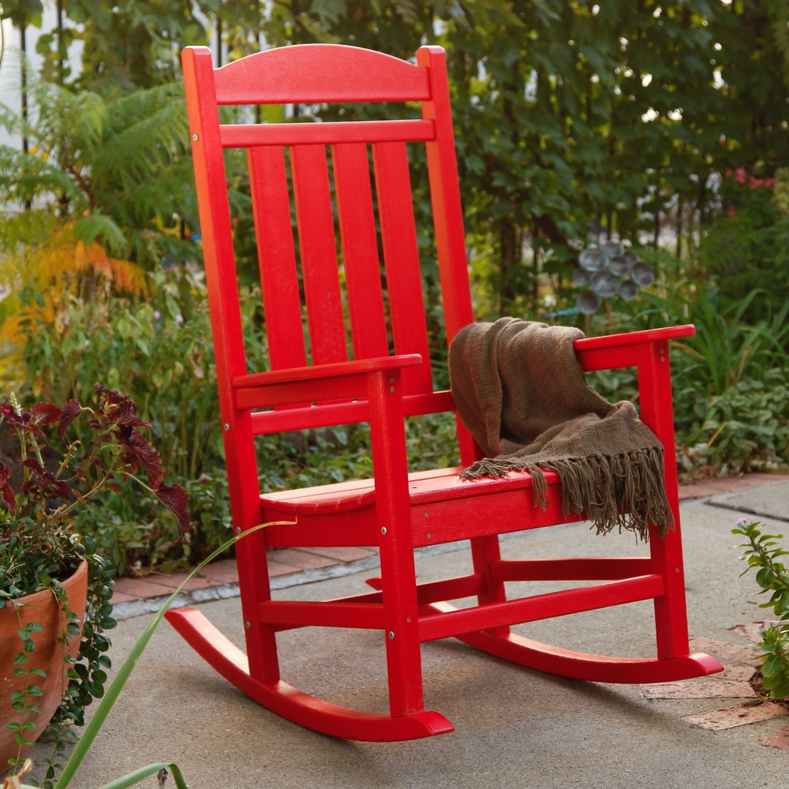 Widely Used Red Patio Rocking Chairs For Polywood® Presidential Recycled Plastic Rocking Chair – Walmart (View 6 of 15)