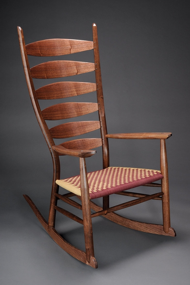 Wooden Rocking Chair – Brian Boggs Chairmakers Pertaining To Most Current Rocking Chairs With Lumbar Support (View 2 of 15)