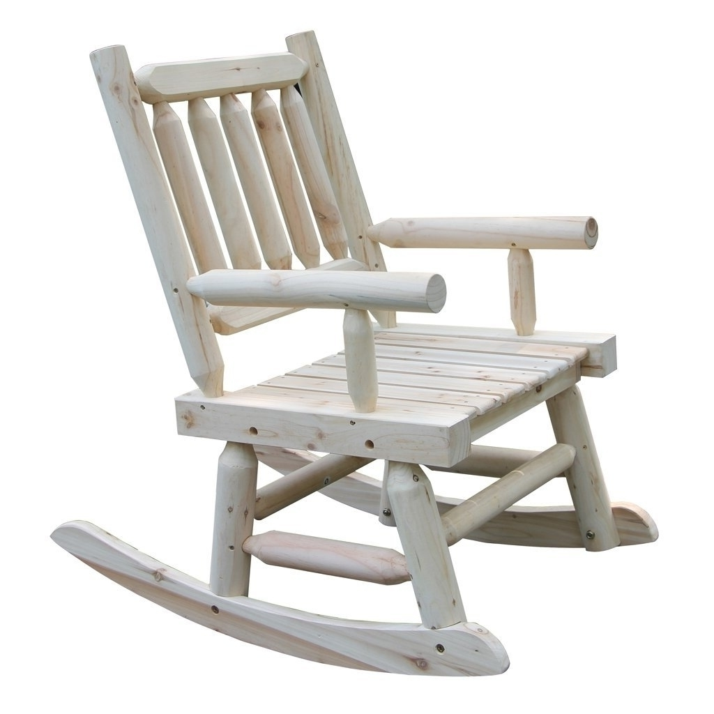Wooden Rocking Chair With Natural Material Comfortable Oversized Throughout Most Recent Oversized Patio Rocking Chairs (View 15 of 15)