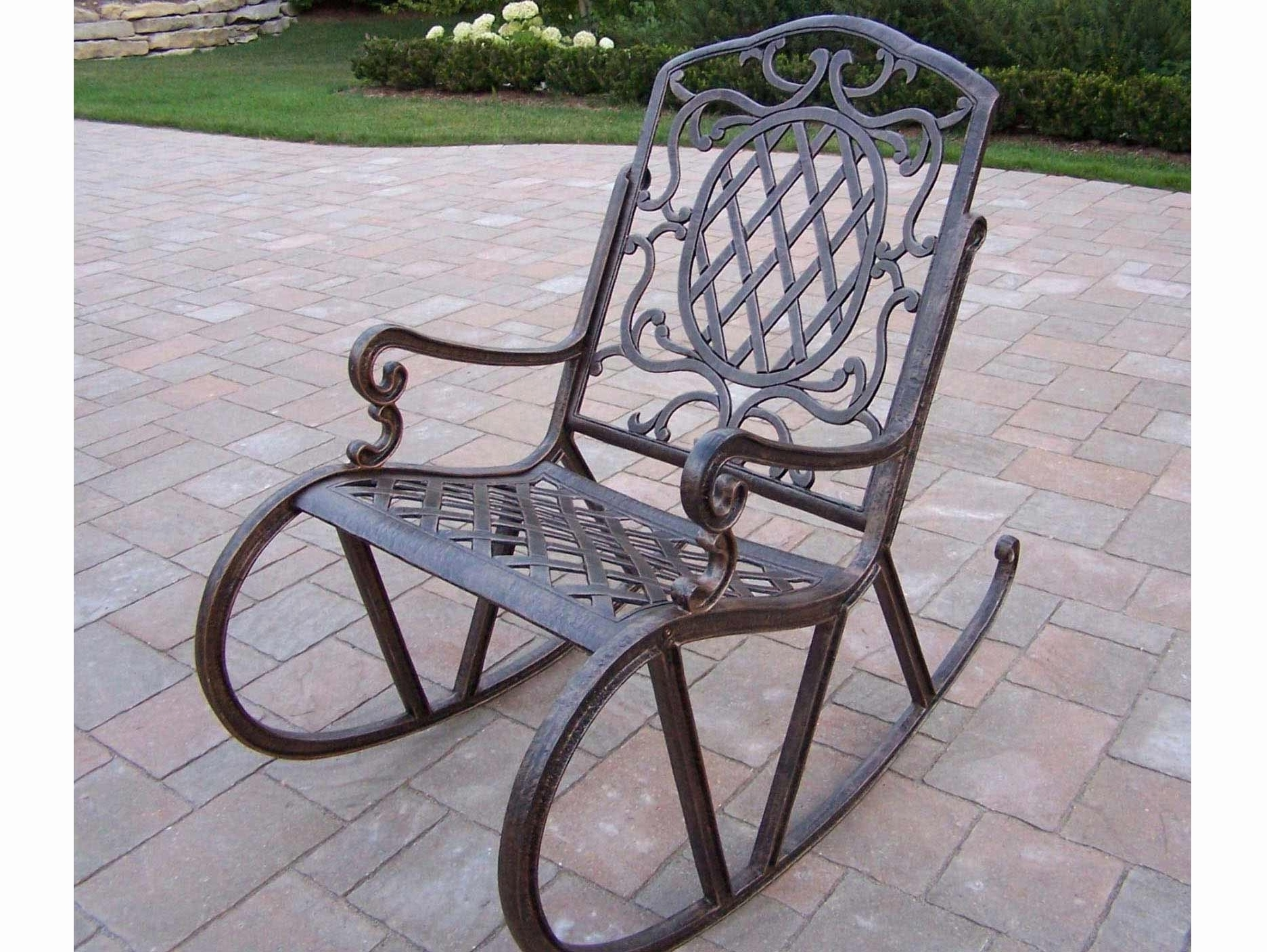 Wrought Iron Patio Furniture Rocking Chairs Ideas Antique Vintage Inside Widely Used Iron Rocking Patio Chairs (View 15 of 15)