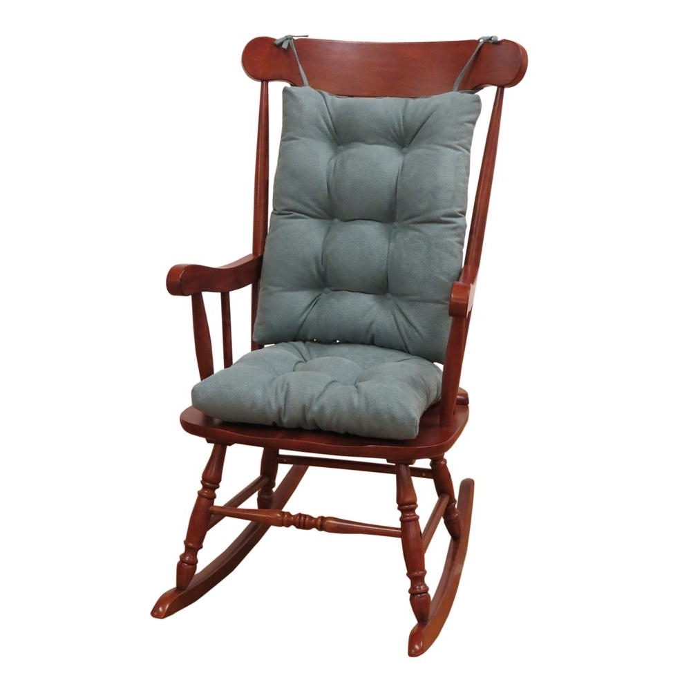 Xl Rocking Chairs Pertaining To Well Known Klear Vu Gripper Twillo Marine Jumbo Rocking Chair Cushion Set (Gallery 8 of 15)