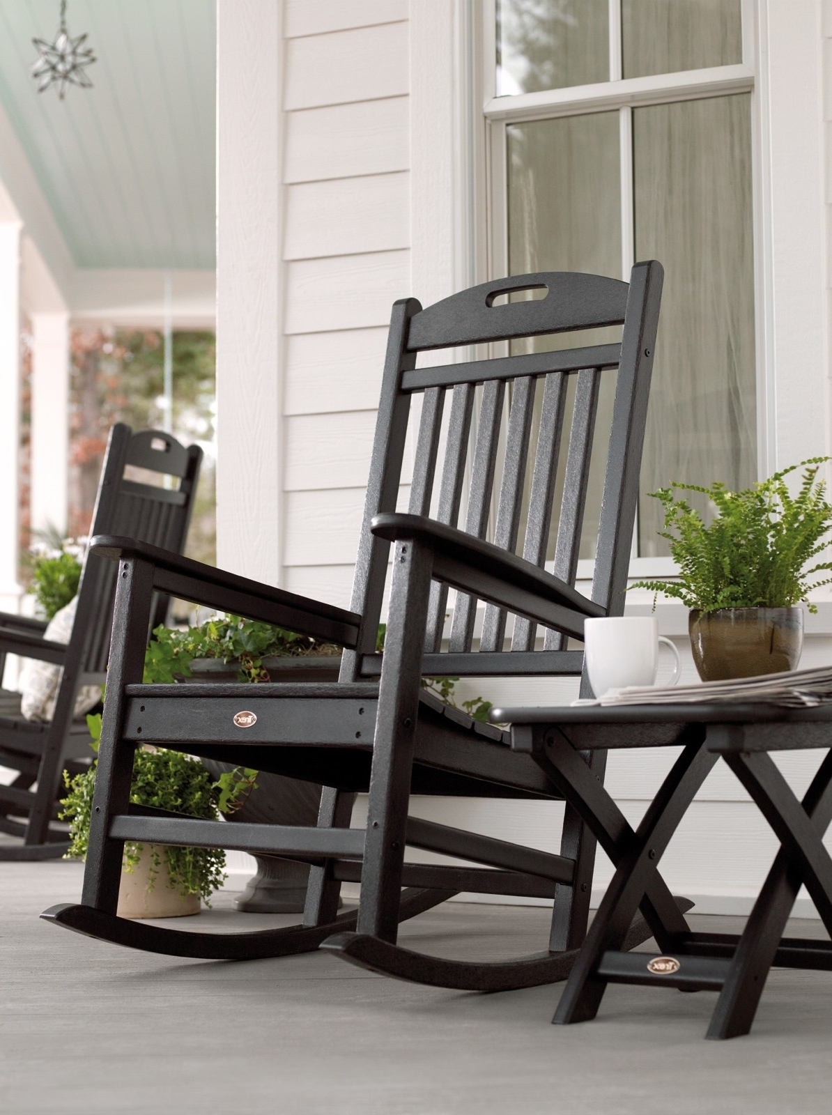 Yacht Club Rocking Chair For Recent Rocking Chair Outdoor Wooden (Gallery 6 of 15)