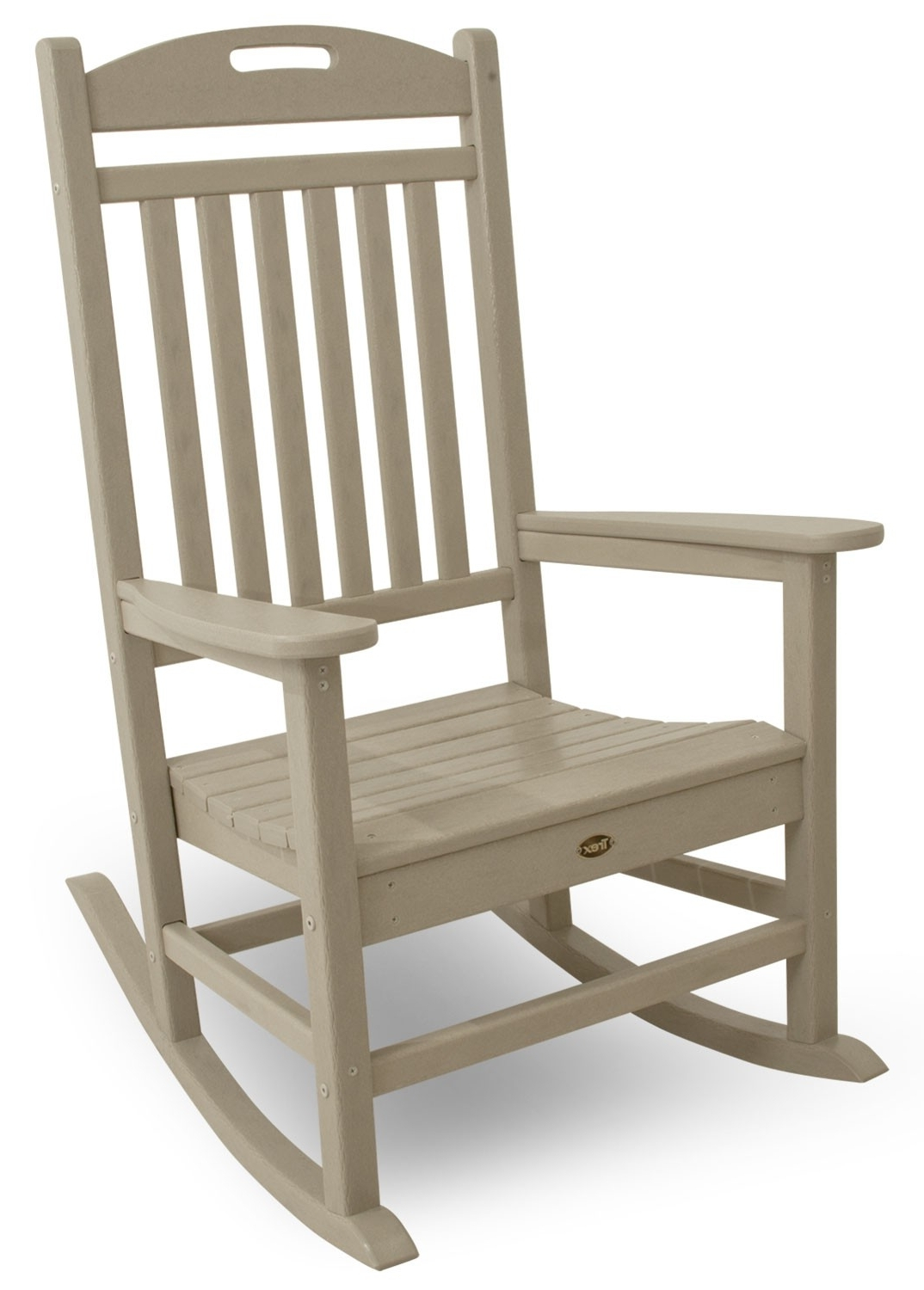 Yacht Club Rocking Chair Pertaining To Newest Patio Rocking Chairs And Gliders (View 7 of 15)