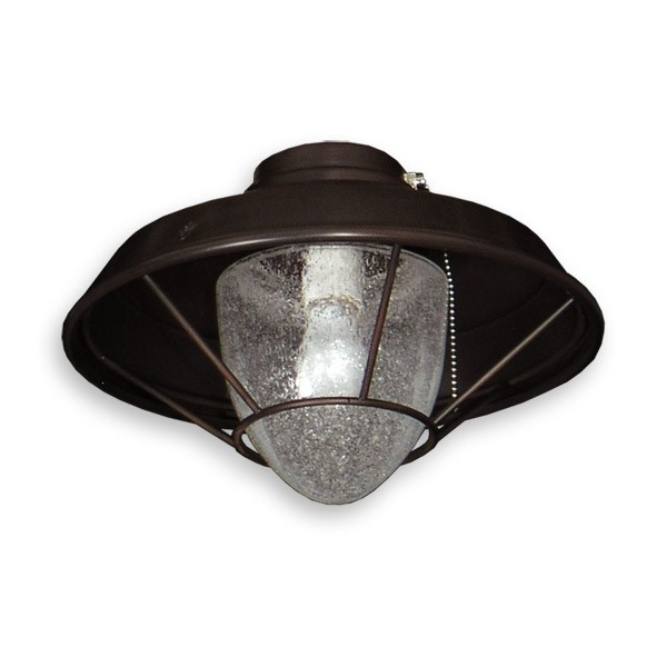 155 Indoor/outdoor Ceiling Fan Light – Lantern Style W/ Seeded Glass Regarding Best And Newest Outdoor Ceiling Fans With Lantern Light (View 1 of 15)