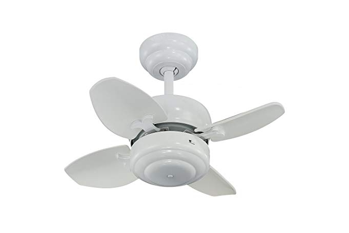 "20 Inch Outdoor Ceiling Fans With Light Pertaining To Most Recent Monte Carlo 4Mc20Wh Mini Ceiling Fan, 20"", White – Small Ceiling Fan (View 2 of 15)"