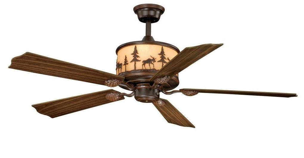 "20 Inch Outdoor Ceiling Fans With Light With Recent Vaxcel Fn56305Bbz Yellowstone Ceiling Fan, 56"", Burnished Bronze (View 4 of 15)"