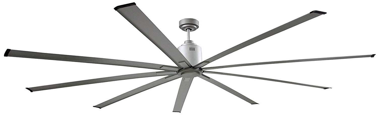 2017 Amazon: Big Air Icf96ups Industrial Ceiling Fan, 96 Inch, Silver With Regard To High Volume Outdoor Ceiling Fans (Gallery 4 of 15)