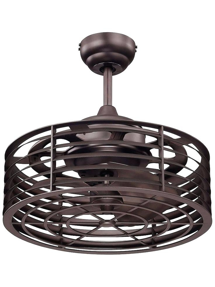 2017 Outdoor Caged Ceiling Fans With Light Throughout Flush Mount Caged Ceiling Fan Enclosed Ceiling Fan Flush Mount Caged (View 1 of 15)