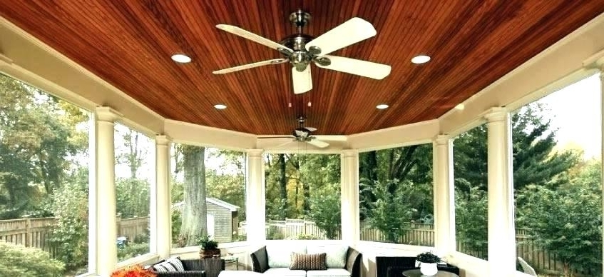 2017 Outdoor Patio Ceiling Fans Amazing Porch Ceiling Ideas Outdoor Porch With Regard To Outdoor Ceiling Fans For Decks (View 1 of 15)