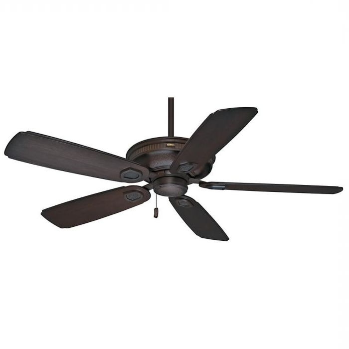 "2018 Casablanca Outdoor Ceiling Fans With Lights Intended For Casablanca 60"" Heritage Outdoor Ceiling Fan In Brushed Cocoa (View 2 of 15)"