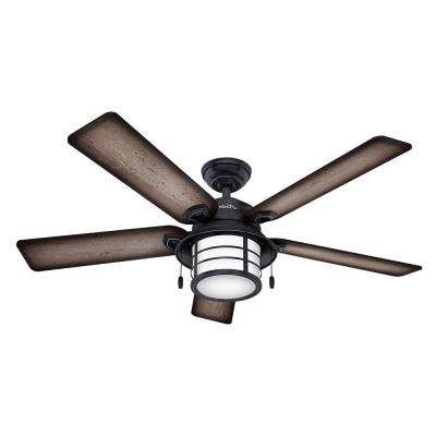 2018 Outdoor Ceiling Fans At Home Depot Throughout Hunter – Cfl – Outdoor – Ceiling Fans – Lighting – The Home Depot (View 12 of 15)