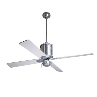 2018 Outdoor Ceiling Fans With Galvanized Blades With Regard To Machine Age Galvanized Ceiling Fan, Silver Blades (View 2 of 15)