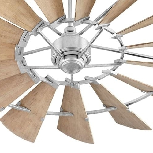 """2018 Outdoor Ceiling Fans With Long Downrod With Regard To Shop Quorum International 197215 Windmill 72"""" 15 Blade Indoor (View 9 of 15)"""