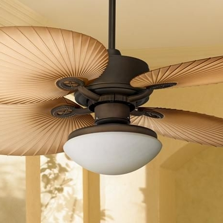 "2018 Outdoor Ceiling Fans With Palm Blades Within 52"" Casa Vieja Aerostat Wide Palm Blades Outdoor Ceiling Fan (View 1 of 15)"
