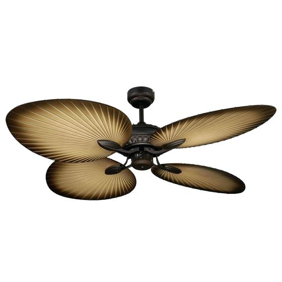 2018 Palm Ceiling Fan Popular Outdoor Blades For Tropical Fans The Touch Throughout Leaf Blades Outdoor Ceiling Fans (View 2 of 15)