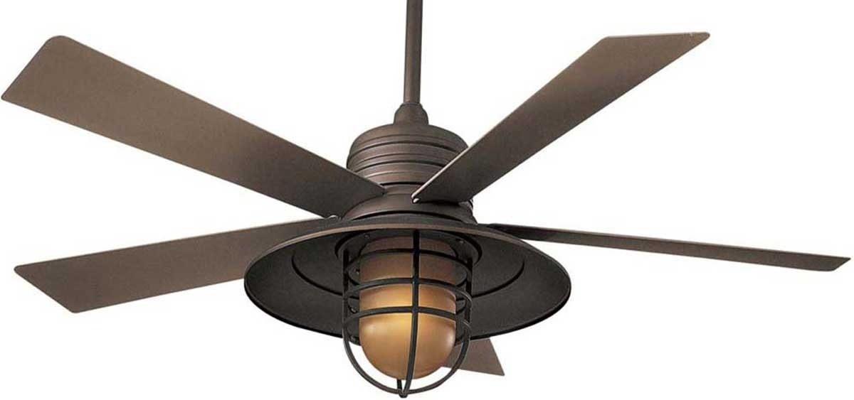 2018 Vintage Outdoor Ceiling Fans In Ceiling: Awesome Ceiling Fan With Cage Light Ceiling Fans With (View 4 of 15)