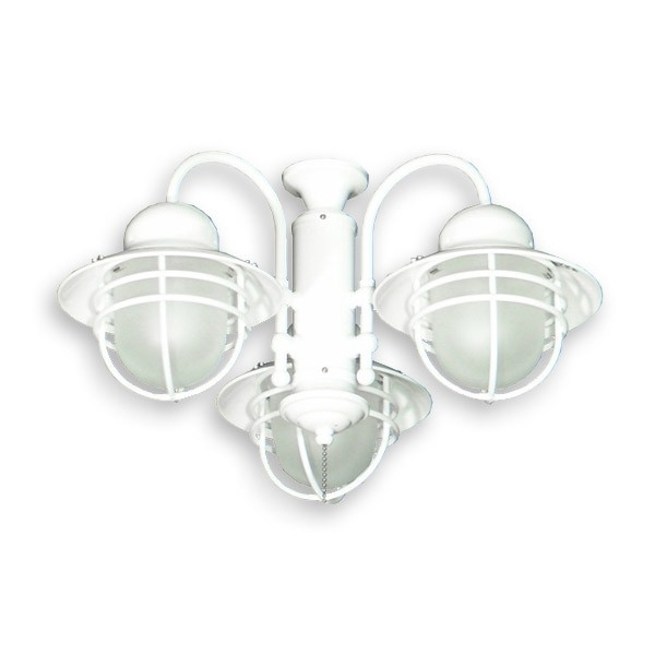 362 Nautical Styled Outdoor Ceiling Fan Light Kit 3 Finish Choices With Regard To Well Known Outdoor Ceiling Fan Light Fixtures (Gallery 7 of 15)