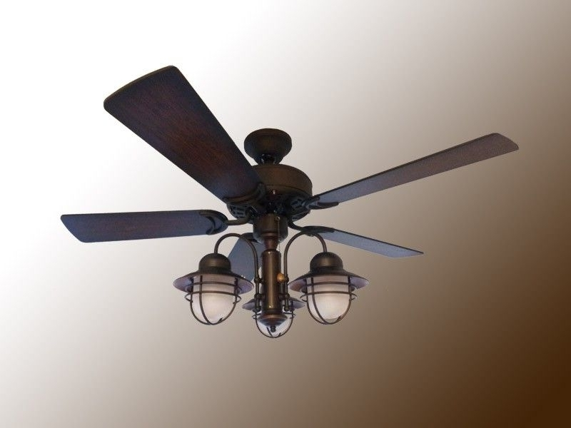 "42"" Indoor / Outdoor Nautical Ceiling Fan – Weathered Brick Finish Intended For Favorite Nautical Outdoor Ceiling Fans (View 5 of 15)"