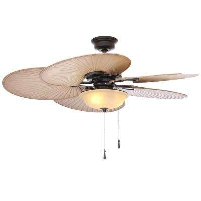 48 Outdoor Ceiling Fans With Light Kit Throughout Current Black – Outdoor – Ceiling Fans – Lighting – The Home Depot (View 5 of 15)
