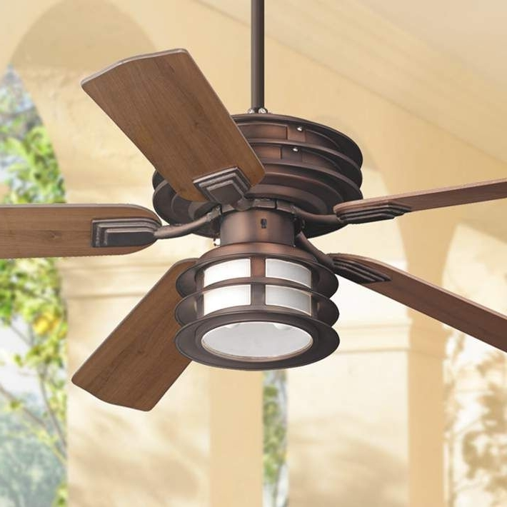 "52"" Casa Vieja Mission Ii Bronze Outdoor Ceiling Fan (Gallery 15 of 15)"