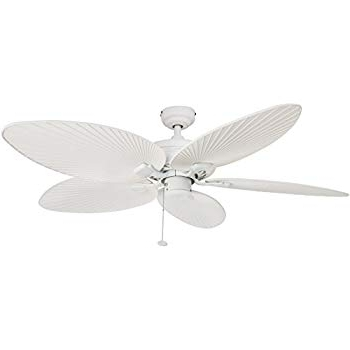 "52"" Casa Vieja Outdoor Palm Leaf Ceiling Fan – – Amazon Within Well Known Outdoor Ceiling Fans With Leaf Blades (View 3 of 15)"