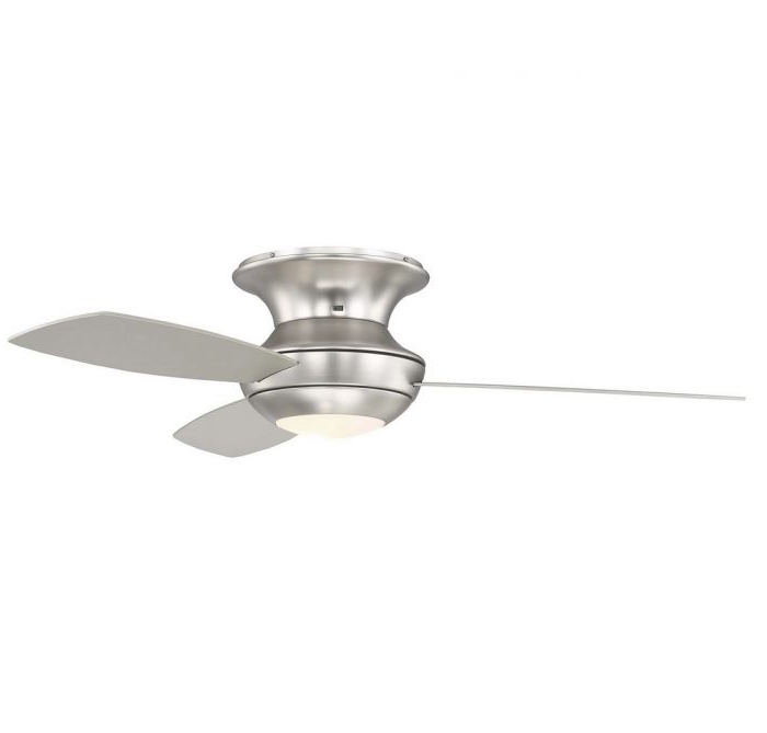 "52"" Outdoor Ceiling Fan With Light In Brushed Nickel – Ceiling Fans In Well Known Brushed Nickel Outdoor Ceiling Fans With Light (View 6 of 15)"