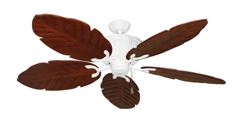 58 Inch Centurion Tropical Outdoor Ceiling Fan With Arbor 100 Blades With Popular Leaf Blades Outdoor Ceiling Fans (Gallery 6 of 15)