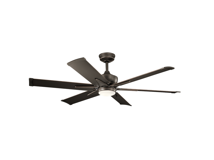 60 Inch Outdoor Ceiling Fans With Lights Within Latest Kichler 60 Inch Szeplo Ii Led Outdoor Ceiling Fan – Olde Bronze (View 7 of 15)