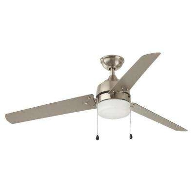 60 Or Greater – Nickel – Outdoor – Ceiling Fans – Lighting – The Pertaining To Preferred Brushed Nickel Outdoor Ceiling Fans With Light (View 2 of 15)