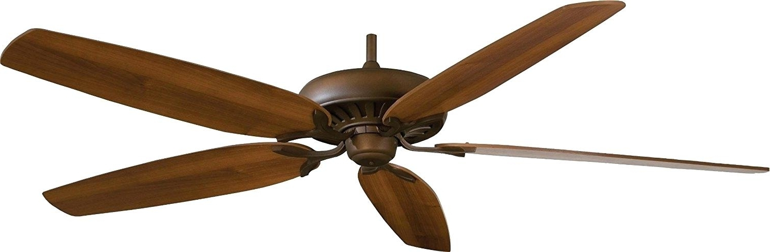72 Inch Outdoor Ceiling Fans With Light Intended For 2017 Industrial Matte White Damp Rated Ceiling Fan At 72 Lowes P – Stapt (View 3 of 15)