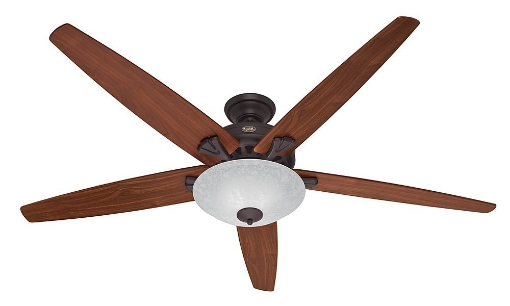 Amazon Outdoor Ceiling Fans With Lights Intended For Most Recently Released Hunter 55042 Stockbridge 70 Inch Ceiling Fan With Five Walnut/medium (View 2 of 15)