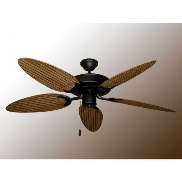 Bamboo Outdoor Ceiling Fans Intended For Latest Bamboo Raindance Outdoor Ceiling Fan For Bamboo Ceiling Fans With (View 15 of 15)