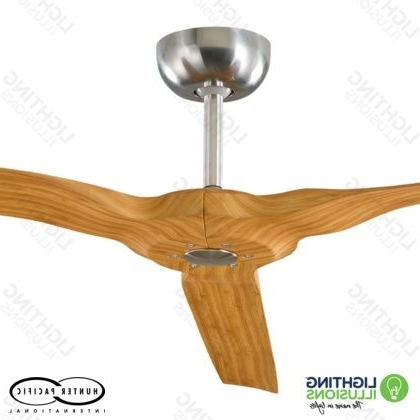 "Bamboo Radical Indoor/outdoor 60"" 3 Blade Dc Ceiling Fan With Remote Intended For Recent Bamboo Outdoor Ceiling Fans (View 7 of 15)"