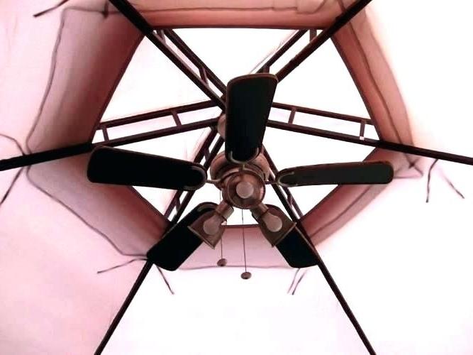 Battery Powered Ceiling Fan Gazebo Fans Gazebo Ceiling Fan Outdoor Throughout Popular Outdoor Ceiling Fans For Gazebo (View 1 of 15)