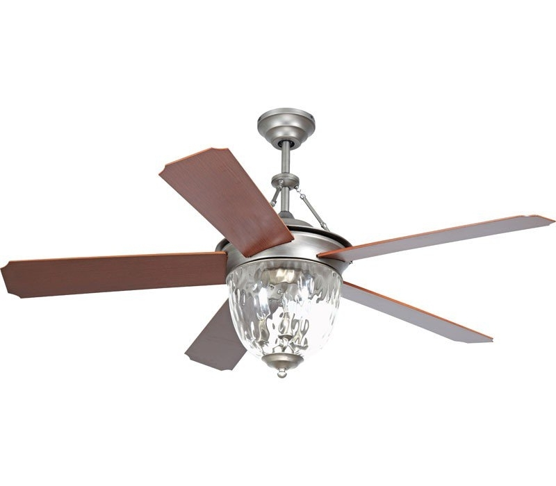 Best And Newest Ellington Outdoor Ceiling Fans With Ellington Cav52an5lk Cavalier 52 Inch Antique Nickel Ceiling Fan (View 3 of 15)