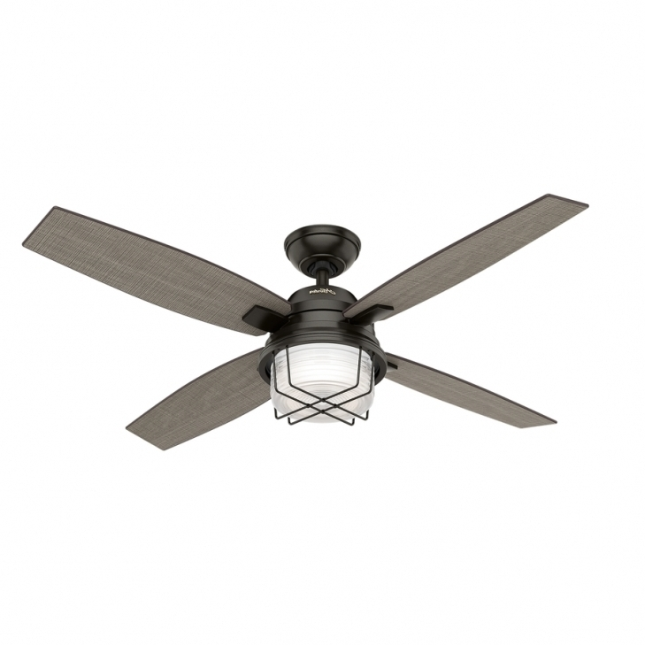 Best And Newest Shop Hunter Ivy Creek 52 In Noble Bronze Indooroutdoor Ceiling Fan Regarding Hunter Indoor Outdoor Ceiling Fans With Lights (View 2 of 15)
