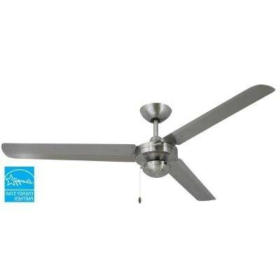 Best And Newest Stainless Steel Outdoor Ceiling Fans With Light Inside Silver – Stainless Steel – Ceiling Fans – Lighting – The Home Depot (View 4 of 15)
