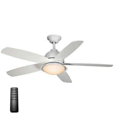 Best And Newest White – Coastal – Integrated Led – Ceiling Fans – Lighting – The Intended For White Outdoor Ceiling Fans With Lights (View 6 of 15)