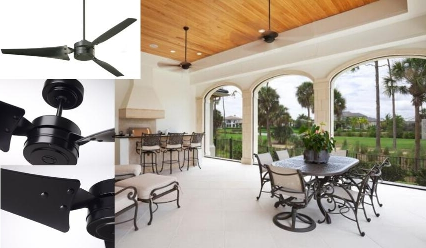 Best Indoor / Outdoor Ceiling Fans – Reviews & Tips For Choosing Inside Popular High Output Outdoor Ceiling Fans (View 2 of 15)