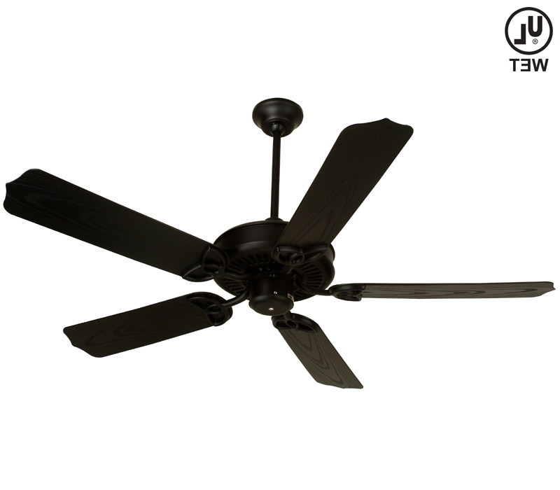 Black Ceiling Fan, Under Deck Ceiling Black Outdoor Ceiling, Design Within 2017 Outdoor Ceiling Fan Under Deck (View 13 of 15)